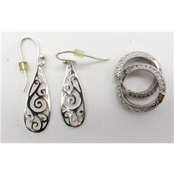 2-PAIRS OF GORGEOUS STERLING EARRINGS