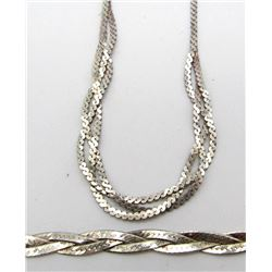 MATCHING SET OF ITALY STERLING NECKLACE &