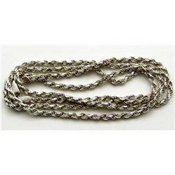 """STERLING NECKLACE/CHAIN MARKED """"ISC"""""""