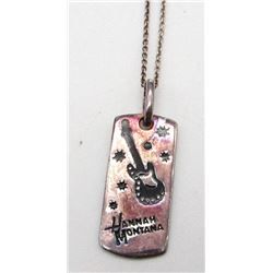 STERLING NECKLACE WITH HANNAH MONTANA