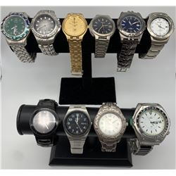 2-MEN FOSSIL WRIST WATCHES; MENS RELIC