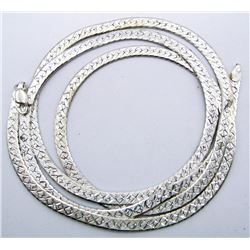 """LONG STELRING NECKLACE/CHAIN MARKED """"AR"""""""