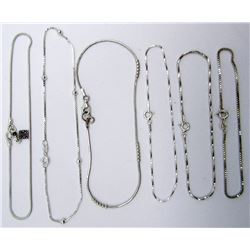 6-STERLING BRACELETS LOOKS NEW! ALL DIFF SIZES