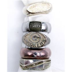 5-MENS STELRING RINGS DIFFERENT DESIGNS!