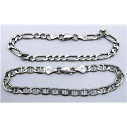 2-ITALY STERLING BRACELETS WITH LINK DESIGNS