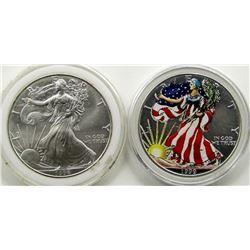 1996 & 1999 AMERICAN SILVER EAGLES