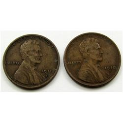 1910-S & 1911-S LINCOLN CENTS