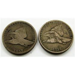 2-1857 FLYING EAGLE CENTS
