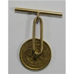 1849 $1 GOLD LIBERTY JEWELRY TIE CLASP