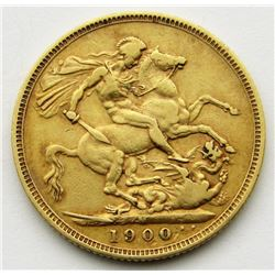 1900 GREAT BRITAIN SOVEREIGN GOLD