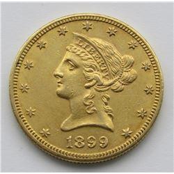 1899-P Ten Dollar $10 Liberty Eagle