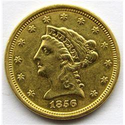 1856 $2.5 DOLLAR LIBERTY HEAD GOLD QUARTER EAGLE