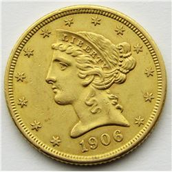 1906 $5 GOLD LIBERTY EAGLE
