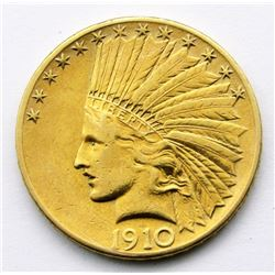 1910-S INDIAN$10 GOLD EAGLE