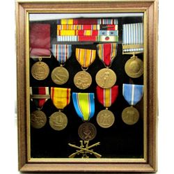 WWII & KOREAN WAR RIBBONS AND MEDALS