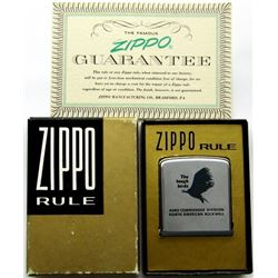 "ZIPPO RULE VINTAGE ""THE TOUGH BIRDS"" ADVERTISING"