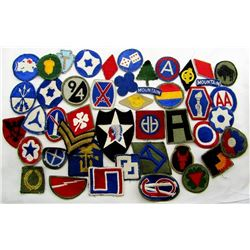 WWII SHOULDER PATCH LOT INFANTRY MOUNTAIN