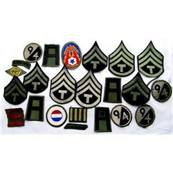 WWII US ARMY PATCH LOT 94th INFANTRY 1st ARMY