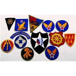 WWII ARMY SHOULDER PATCH LOT USAAF & MORE