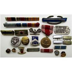 KOREAN WAR US ARMY MEDAL PIN RIBBON LOT