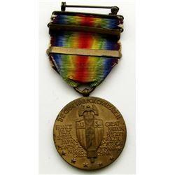 WWI VICTORY MEDAL - YPRES-LYS, DEFENSIVE SEC