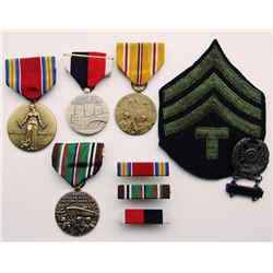 WWII MEDALS PATCH & BADGE LOT