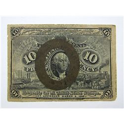 1863 10c FRACTIONAL NOTE