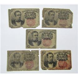 5-1874 10c FRACTIONAL NOTES