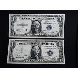 2-1935E $1 SILVER CERTS XF/AU