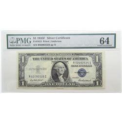 $1 1935A SILVER CERTIFICATE PMG 64