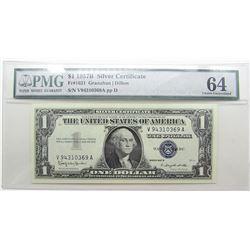$1 1957B SILVER CERTIFICATE PMG 64