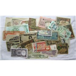 30 FOREIGN CURRENCY PIECES
