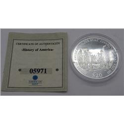 .999 SILVER $20 LIBERIA PROOF 2006