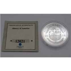 .999 SILVER $20 LIBERIA PROOF 2000