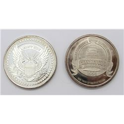 2-.999 SILVER ROUNDS 1991 STANLEY CUP