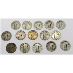 15 STANDING LIBERTY QUARTERS