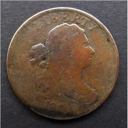 1804 DRAPPED BUST HALF CENT FINE