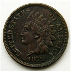 1879 INDIAN CENT F/XF