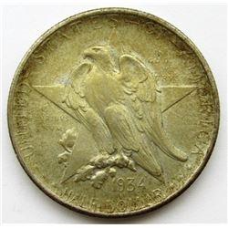 1934 TEXAS COMMEM HALF DOLLAR AU