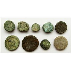 LOT OF CORRODED ANCIENT COINS