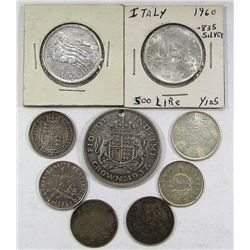 GR BRIT SILVER CROWN 1937 HOLED, (2) ITALY