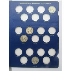 WASHINGTON QTR NEAR SET 1934-1964 (66 COINS)