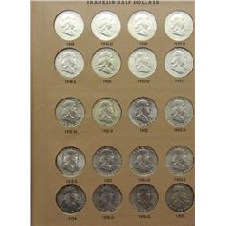 FRANKLIN HALF DOLLAR BOOK 1948-1963-D
