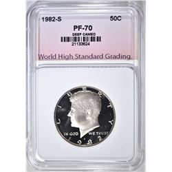 1982-S KENNEDY HALF, WHSG PERFECT GEM PROOF