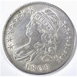 1809 BUST HALF DOLLAR AU/BU