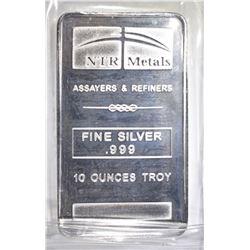 TEN OUNCE .999 SILVER BAR NTR METALS