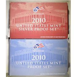 2010 US MINT & SILVER PROOF SETS