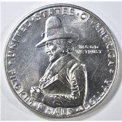 1920 PILGRIM COMMEM HALF DOLLAR   GEM BU