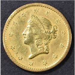 1854-S $1 GOLD LIBERTY HEAD  AU