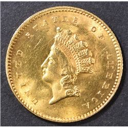 1854 $1 GOLD INDIAN PRINCESS TYPE 2  V CH BU